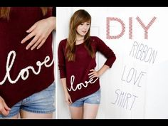 ▶ DIY Ribbon Love Shirt - YouTube
