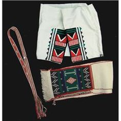 "Hopi Woven Dance Set  Mid/Late 1900s, Beautiful hand woven and embroidered skirt and sash of wool and cotton, plus a traditional woven wool belt (60"" + 10"" fringe). All in very good condition, showing a little use. Skirt 53"" x 23"", shawl 106"" x 11"""