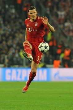 Daniel Van Buyten. of FC Bayern Muenchen in action.during the UEFA Champions League quarter-final second leg match between Juventus and FC Bayern Muenchen at Juventus Arena on April 10, 2013 in Turin, Italy.