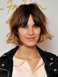 alexa chung hair messy bob with ombre More