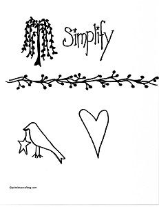 Free Primitive Graphics Pip Berry Vine, Crow w/star, heart, Simplify