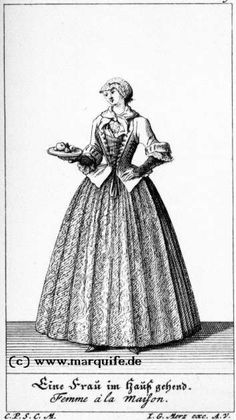 Woman at Home  Johann Georg Merz, c. 1730