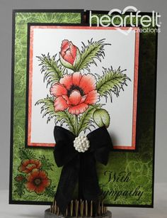 Heartfelt Creations | Blazing Poppy Sympathy Gate Fold Card