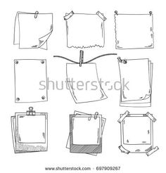 Photo frames and different blank notepaper. set of doodle pictures. Sketch of frame photo retro, image white blank illustration Bullet Journal School, Bullet Journal Boxes, Bullet Journal Banner, Bullet Journal Notebook, Bullet Journal Ideas Pages, Bullet Journal Inspiration, Book Journal, Bullet Journal Vectors, Doodle Pictures