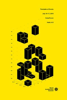 World Architecture Summit Timetable of Event Black and Yellow Infographic