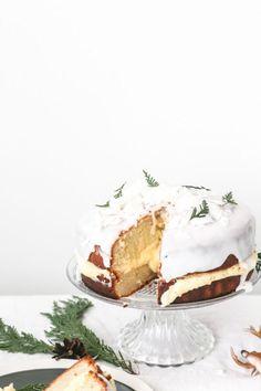 Coconut Sponge Cake with Ginger Buttercream