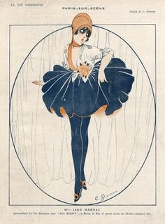 Charles Gesmar 1916 Jane Marnac, Revue ''All Right'' Music hall