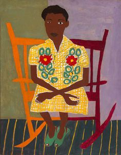 Portrait of Woman in Rocking Chair by William H. Johnson / American Art