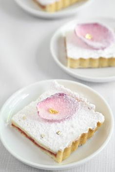 Roses and Gold. A Rose Water Tart Recipe