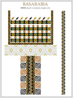 Semne Cusute: iie din BASARABIA - desen (27) Hungarian Embroidery, Folk Embroidery, Learn Embroidery, Embroidery Patterns, Machine Embroidery, Palestinian Embroidery, Butterfly Embroidery, Cross Stitch Borders, Cross Stitch Patterns