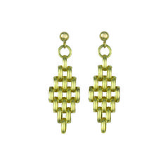 OphirJewellery - 9ct Yellow Gold Panther Chain Maile Earrings, £199.99 (http://www.ophirjewellery.co.uk/9ct-yellow-gold-panther-chain-maile-earrings/)