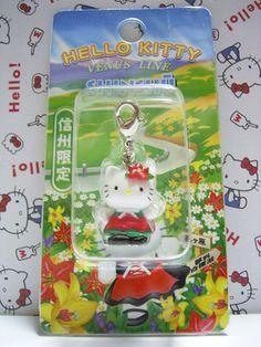 GOTOCHI HELLO KITTY Kawaii Charm Mascot VENUS LINE SHINSHU Japan NEW 2002 RARE