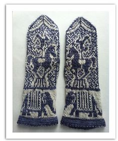 These mittens were inspired by the circuses of yesteryear. Fingerless Mittens, Knit Mittens, Knitted Gloves, Knit Stranded, Horse Crafts, Mittens Pattern, Wrist Warmers, Knitting Accessories, Knitting Designs