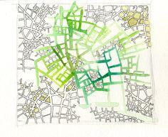 Combinatory map sketches | Emily Garfield Art
