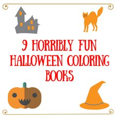 Horribly.....fun! Halloween coloring books that is! Check out my favorites!  #coloring #halloween #halloween2017 #papercraft