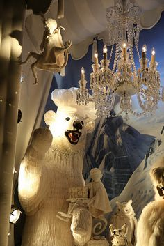"Bergdorf Goodman, holidays 2011, themed ""Carnival of the Animals"""