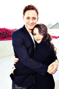 """Tom Hiddleston and Kat Dennings (Darcy Lewis from """"Thor""""). Cuz, you know, her best friend got Thor and Loki's even better."""