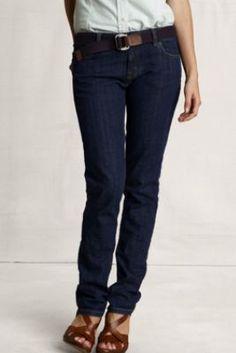 Women's Slim Leg Jeans from Lands' End Canvas