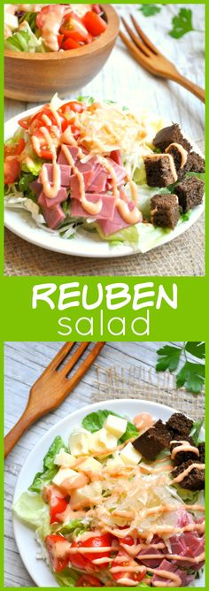 This fast, easy, and delicious Reuben Salad is like an Irish version of a classic Cobb Salad — just in time for St. Patrick's Day!