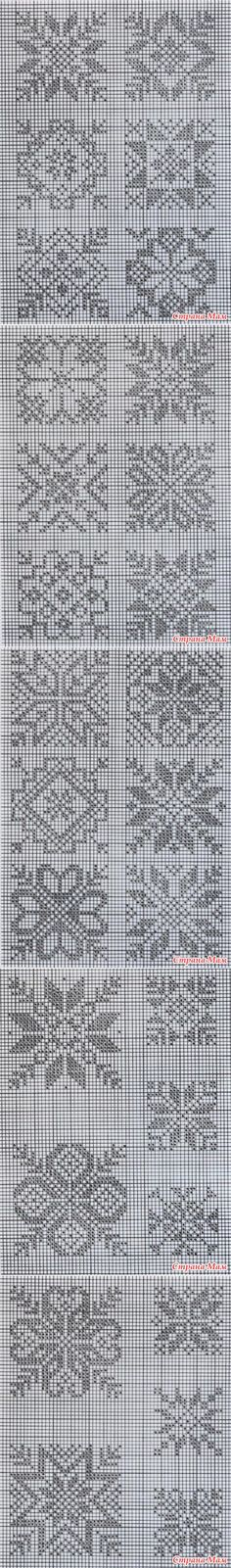 Norwegian patterns - WORLD IN MY HANDS! Filet Crochet, Crochet Cross, Crochet Chart, Knitting Charts, Knitting Stitches, Knitting Designs, Knitting Patterns, Hardanger Embroidery, Cross Stitch Embroidery