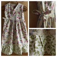 Boho Wrap Dress, girls size 8 by SewMeems on Etsy