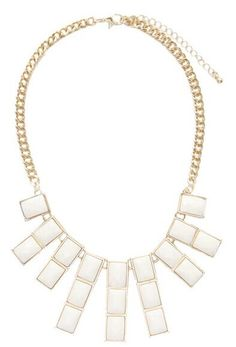 Morpheus Boutique  - White Crystal Stone Droplet Statement Gold Limited Edition Necklace , CA$60.51 (http://www.morpheusboutique.com/jewelry-watches/necklaces/white-crystal-stone-droplet-statement-gold-limited-edition-necklace/)