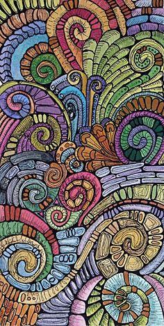 Mosaic doodle art