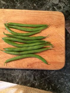 Lets start by trimming the ends of the green beans