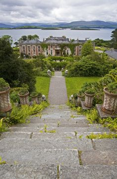 The spectacular gardens at Bantry House in West Cork sitting on the banks of Bantry Bay.