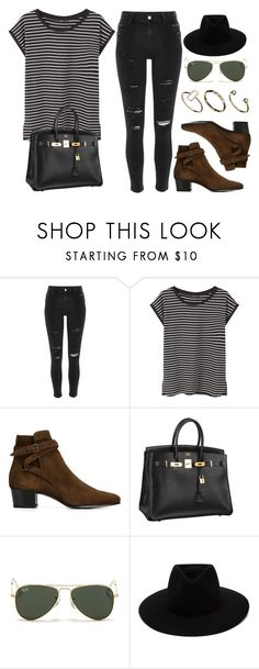 """Style  #10831"" by vany-alvarado ❤ liked on Polyvore featuring River Island, MANGO, Yves Saint Laurent, Hermès, Ray-Ban, rag & bone and ASOS"