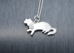 A rare design Ferret handcrafted sterling by GroommyJewellery Oh my gosh, i really want this!! :)