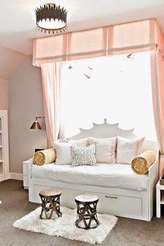 SO AMAZING. design dump: ORC finale: a teen bedroom in peach + mustard
