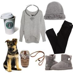"""""""A walk with the dog"""" by hello-kitty-ro on Polyvore"""