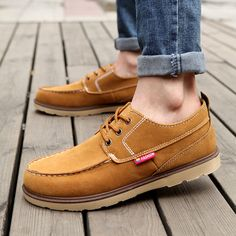 b47e20ffc 2015 Spring korean new 3 colors men's flats shoes casual leather stitching  man fashion summer style