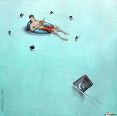 30 Illustrations By Pawel Kuczynski Showing What's Wrong With Modern Society The Polish artist Pawel Kuczynski is an absolute master, combining satire Satire, Satirical Illustrations, Ecole Art, Social Art, Social Media, Political Art, Brutally Honest, Art Academy, Illustration Artists