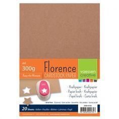 Kraft papier, kartón A4 300 g/m2 Bookbinding, Tim Holtz, Florence, Card Stock, Creative, Alps, Dutch, Live, Holiday
