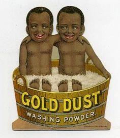 Gold Dust Twins Die Cut Trade Card Black Boys in Tub | eBay