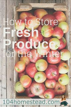 Frozen and canned produce is good, but sometimes fresh produce off-season is better. Discover how to use Fresh Storage to enjoy fresh produce year round.:
