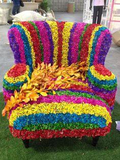 Flowers Gif, Large Flowers, Beautiful Flowers, Deco Floral, Arte Floral, Topiary Garden, Garden Art, Amazing Gardens, Beautiful Gardens