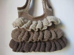 Ruffle Bag | AllFreeCrochet.com