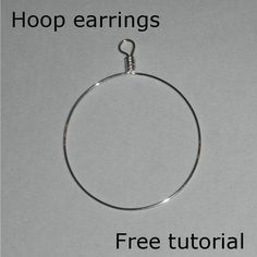 Hoop Earrings Free Tutorial