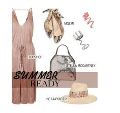 """""""Summer Ready: Pleat Wrap Midi Dress"""" by tracey-mason ❤ liked on Polyvore featuring Topshop, STELLA McCARTNEY, Elizabeth and James and Eugenia Kim"""