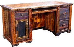 Rustic Reclaimed Wood Desk ~ Country Roads Collections