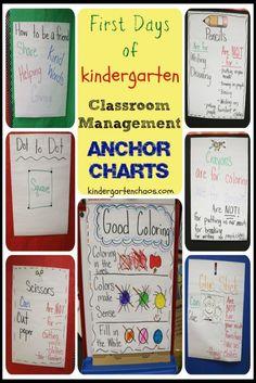 Classroom Management Anchor Charts