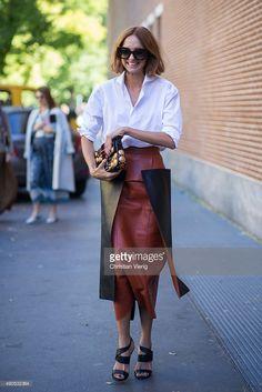 Candela Novembre during Milan Fashion Week Spring/Summer 16 on September 24, 2015 in Milan, Italy.