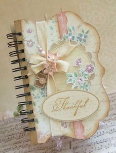 soooooo pretty! Maybe take a store bought rectangle notebook and cut and decorate