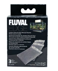 Fluval EDGE Carbon Clean & Clear Renewal Sachets - 3-Pack - http://www.thepuppy.org/fluval-edge-carbon-clean-clear-renewal-sachets-3-pack/