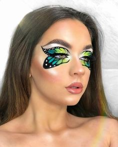 Eye Makeup Designs, Eye Makeup Art, Makeup Eyes, Make Up Designs, Butterfly Makeup, Amazing Halloween Makeup, Halloween Eyes, Halloween Nails, Colorful Eye Makeup