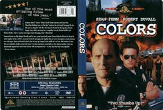 Colors Latino Inglés DVD9 Colors DVD9 | DVD FULL | NTSC | VIDEO_TS | 5.59 GB | Audio: Español Latino 5.1 Inglés 5.1 Francés 5.1 | Subtítulos: Español Latino Inglés Francés | Menú: Si | Extras: Si Titulo: Colors Año: 1988 País: Estados Unidos Duración: 119 Minutos Género: Acción. Drama | Policíaco. Crimen. Racismo. Basado en hechos reales. Buddy Film Director: Dennis Hopper Productora: Metro-Goldwyn-Mayer (MGM) Reparto: Sean Penn Robert Duvall María Conchita Alonso Randy Brooks Don Cheadle…