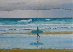 Cantábrico IV – Belén Eizaguirre Alvear Surfing, Painting, Art, Oil On Canvas, Canvases, Art Background, Painting Art, Kunst, Surf